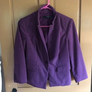 Women's purple blazer.  Fully lined.